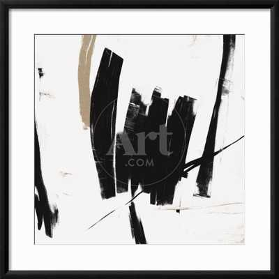 "Black and White Abstract Framed Print 24 x 24"" - art.com"