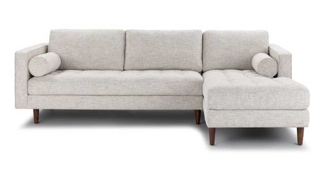 Sven Birch Ivory Right Sectional Sofa - Article