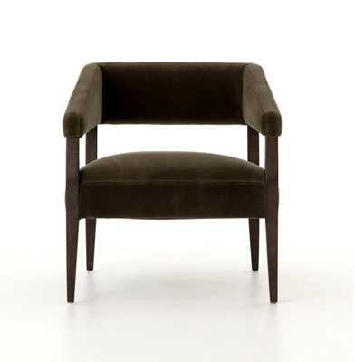 Gary Club Chair in Olive Green - Burke Decor