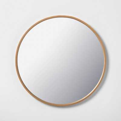 "30"" Round Large Mirror - Wood - Hearth & Hand™ with Magnolia - Target"