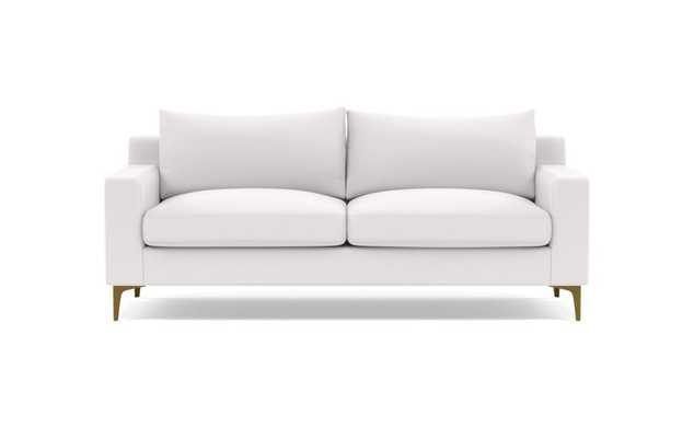 "SLOAN Fabric 2-Seat Sofa, standard depth, Pearl performance basket weave, 87"" - Interior Define"