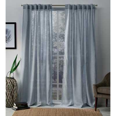 Leon Solid Semi-Sheer Tab Top Curtain Panels (Set of 2) - Birch Lane