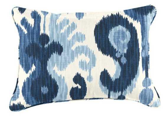 Custom Pillow Cover - 12X20 - Bethesda Blue - Ballard Designs