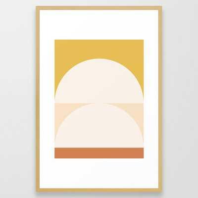 Abstract Geometric 01 Framed Art Print 26x38 - Society6