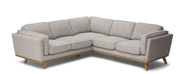 Timber Rain Cloud Grey & Honey Oak Corner Sectional - Article