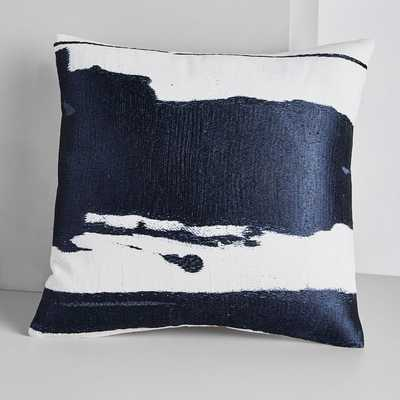 "Ink Abstract Pillow Covers / Navy / 20""x20"" - West Elm"