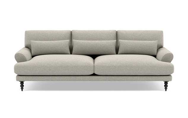 Maxwell Sofa with Grey Fog Fabric and Matte Black legs - Interior Define