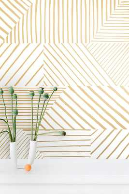 Juju Papers Parquet Hand Printed Wallpaper - Anthropologie