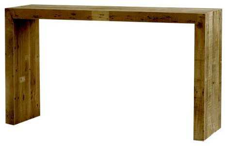 Ames Reclaimed Wood Console Table - Wayfair