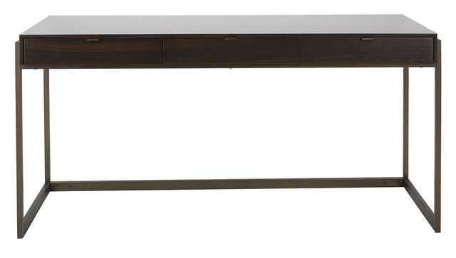 Genevieve 3-Drawer Writing Desk - Smoked Eucalyptus - Arlo Home - Arlo Home