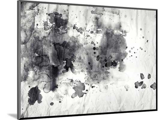 ABSTRACT BLACK AND WHITE INK PAINTING ON GRUNGE PAPER TEXTURE - art.com