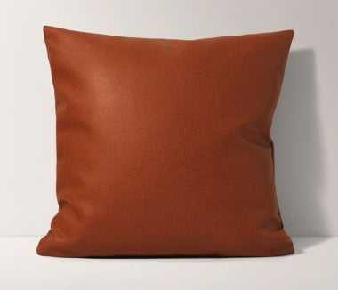 Faux Leather Pillow - w/ no pillow insert - Burrow