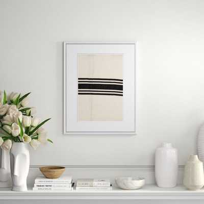 Finn & Ivy 'Vintage French Sack Cloth in Black' - Picture Frame Print on Paper - Perigold