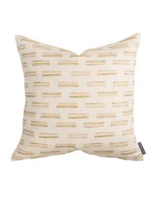 "AVERY DOUBLE STRIPE PILLOW COVER - TAN - 20"" x 20"" - McGee & Co."