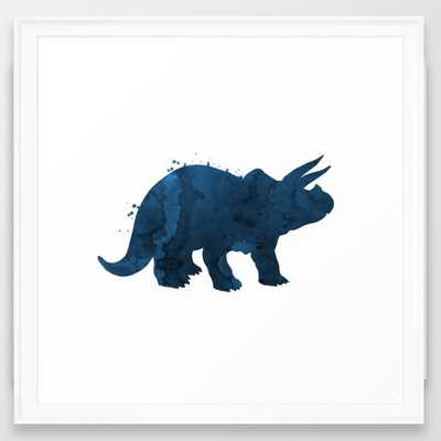 Triceratops Framed Art Print - Society6