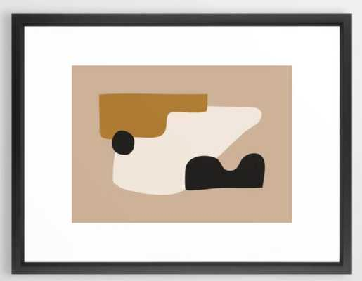 "abstract minimal 16 Framed Art Print-vector black- 20""x26"" - Society6"