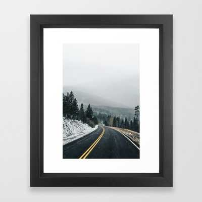 Through the Mountains Framed Art Print - Society6