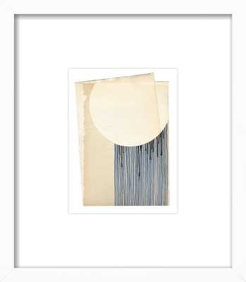 "Not a Circle (False 3) white wood frame with matte 8"" x 10"" - Artfully Walls"