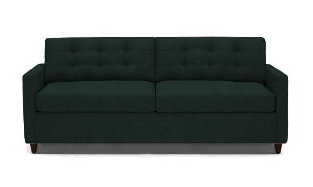 Eliot Sleeper Sofa- Royale Evergreen- Mocha Legs - Joybird