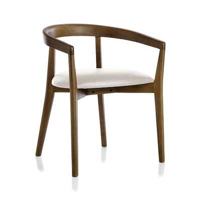 Cullen Shiitake Sand Round Back Dining Chair - Crate and Barrel