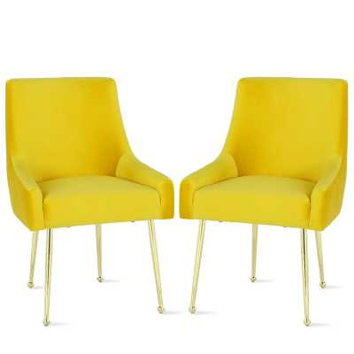 Huxley Upholstered Dining Chair (Set of 2) - Wayfair