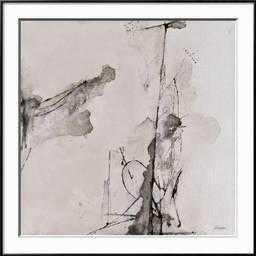 Whispers IV- Framed Art Print-  Ronda Black Frame- 30'' x 30'' - art.com