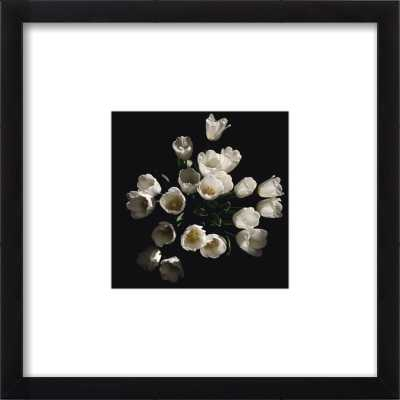 Floral 4 - 8x8 black wood frame and mat - Artfully Walls