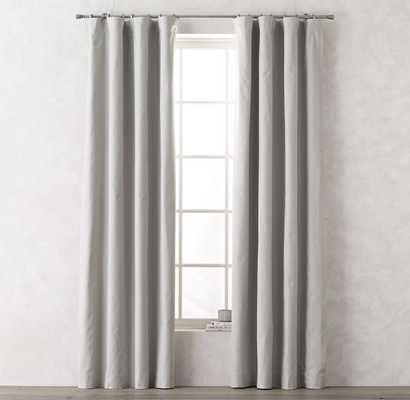 "Linen-Cotton Drapery Panel - Mist - 108""l x 50""w - RH Teen"