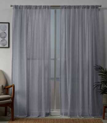 Santos Rod Pocket Sheer Window Curtain Panels - Exclusive Home - light gray - 54 x 96 - Target