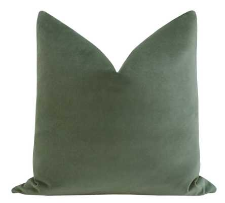 """Sonoma Velvet // Eucalyptus 18"""" x 18"""" - Little Design Company"""