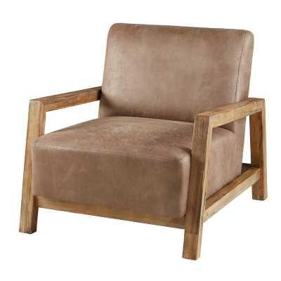"Witmer 28.5"" W Faux Leather Armchair - Wayfair"