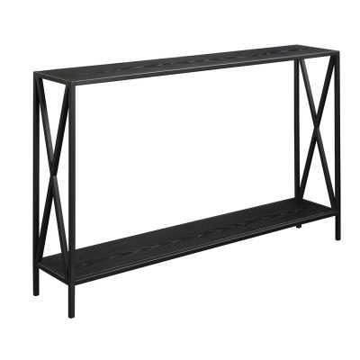 Abbottsmoor Metal Frame Console Table, Black - Wayfair