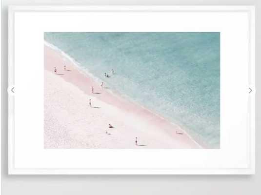 beach family love, vector white, 26x38 - Society6