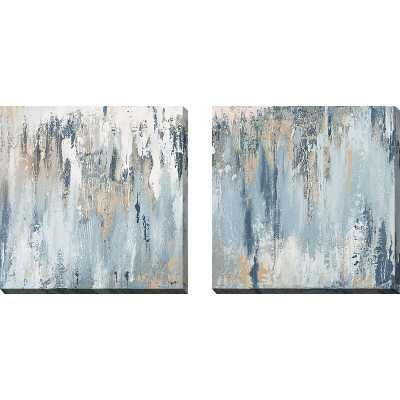 'Blue Illusion Square' 2 Piece Acrylic Painting Print Set'Blue Illusion Square' 2 Piece Acrylic Painting Print Set - Wayfair