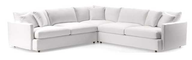 Lounge II 3-Piece Sectional Sofa - Newport Salt - Crate and Barrel