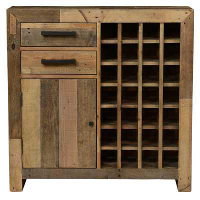 Abbey 28 Bottle Floor Wine Cabinet - Birch Lane