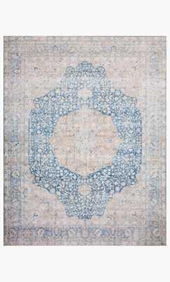 Lay-07 Blue / Tangerine - 9 x 12 - Loma Threads