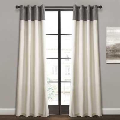 Claudia Solid Semi-Sheer Grommet Curtain Panels (Set of 2) - Wayfair