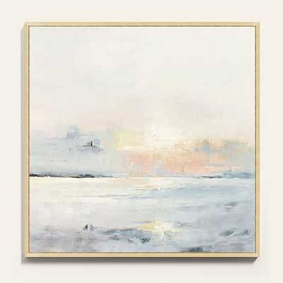 "PASTEL SUNSET FRAMED CANVAS / 30"" x 30"" - Ballard Designs"