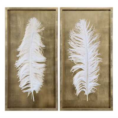 White Feathers Shadow Box, S/2 - Hudsonhill Foundry