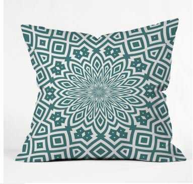 HELENA TEAL Throw Pillow - Wander Print Co.