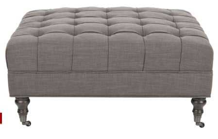 Clark Cocktail Tufted Ottoman - Arlo Home