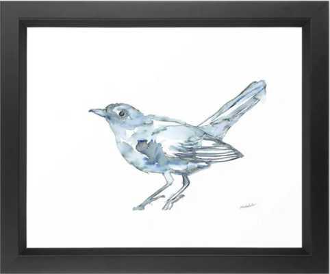 "Nightingale Watercolor Sketch Framed Art Print, Vector Black, 10"" X 12"" - Society6"
