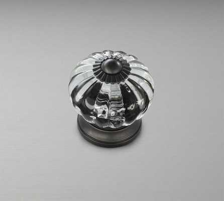 Vintage Glass Knob, Bronze finish - Pottery Barn