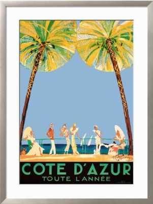 """Cote d'Azur - 28"""" x 39"""" Art Print - art.com"""