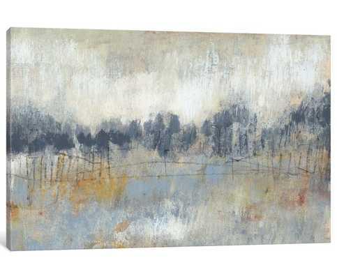 'Cool Grey Horizon II' Painting Print on Canvas - Wayfair