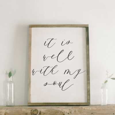 It is Well with My Soul Verse Wall Décor - Wayfair