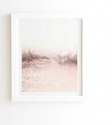 WHITE FRAMED WALL ART SNOWDREAMER BLUSH LIGHT  BY MONIKA STRIGEL - Wander Print Co.
