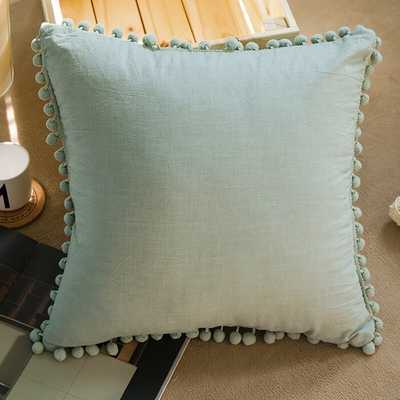 Moats Pom Pom Fringes Indoor/Outdoor Cotton Throw Pillow Cover - Wayfair