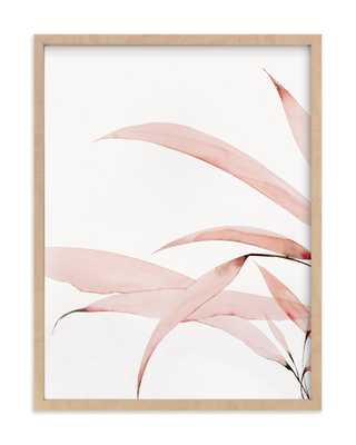 Mogna01 18x24 Natural Raw Wood Frame Coral Pink - Minted